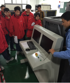 This map security inspection machine manufacturers to help the two courier industry in Xinjiang elev